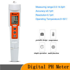 Waterproof PH Meter 0.0-14.0 pH LCD Aquaculture Temperature Water Quality Tester