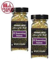 🔥 TWO-PACK Trader Joe's 21 Seasoning Salute Spice Blend 🔥