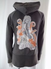 B by BURTON Fleece Hoodie Sparkle Gray Experience Embroidered S