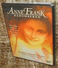ANNE FRANK REMEMBERED DVD, NEW & SEALED, RARE, NARRATED BY GLENN CLOSE, REGION 1