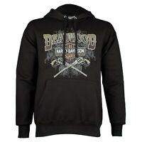 Deadwood Harley-Davidson® Men's Wild Bill Guns Black Pullover Hoodie Sweatshirt