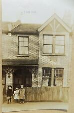 Old Postcard Unposted Street Scene House Children Vintage Photographic