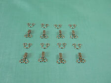 20 Set Hook And Eye Steel Silver Size #3 Prym ~1/2""