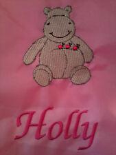 Personalised Hippo School/PE/Gym/Baby Drawstring Bag
