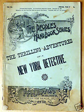 1893 The Thrilling Adventures of a New York Detective John Babbington Williams