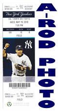 Alex Rodriguez Home Run 589 Yankees 5/19 Ticket Stub HR