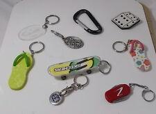Jewelry Lot Key Chains Key Rings Flip flop Skechers Dice Carabiner