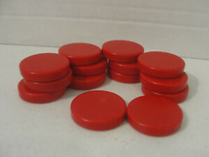 """Backgammon Replacement RED 1 1/4 x 1/4"""" 14 Piece Set"""