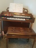 Kimball Swinger 300 Organ with Bench opens used A+ Cherry free local delivery