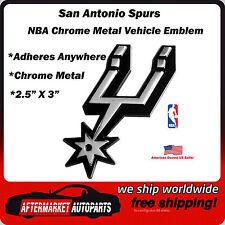 San Antonio Spurs NBA Chrome Metal Car Auto Emblem Team Decal Logo Ships Fast