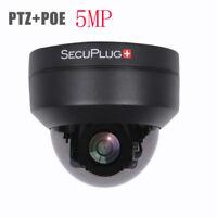 5MP MINI PTZ IP Camera HD 2592x1944 Pan/Tilt 4X Zoom IR Dome POE 2.8-12 MM UK