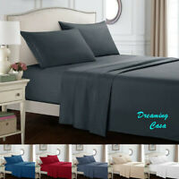KING SIZE SHEETS 1800 Count 4 Piece Bed Sheet Set Deep Pocket Bed Sheets Set J5