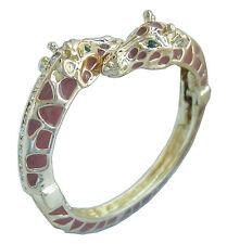 Unique Animal Giraffe Bracelet Bangle Cuff Clear Austrian Crystal CL08405
