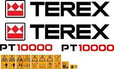 TEREX PT10000 DUMPER DECALS
