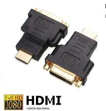 DVI auf HDMI Adapter 1080p FULL HD PC TV Video Monitor Beamer Stecker Buchse NEU