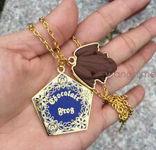 New Harry Potter Chocolate Frog Golden Necklace Metal PVC Pendant Otaku Men Gift
