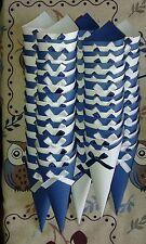 60 Coni porta riso porta confetti matrimonio bianchi e blu