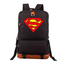 Superman Shoulders Backpack Laptop Bags Student School Bags Bookbag New