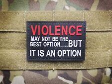 VIOLENCE BLACK RED PVC Tactical Military Morale Patch VETERAN BIKER III%