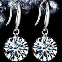 Fashion New 925 Sterling Silver Women Crystal Rhinestone Ear Stud Earrings vYL