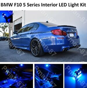 DELUXE BLUE BMW F10 5 Series FULL LED Light UPGRADE WHITE XENON Interior KIT
