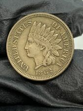 1862 United States Indian Head Small Cent Penny Circulated Coin Estate Find