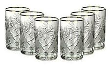 Set of 6 Vintage Russian Crystal Tea Glasses For Metal Holder Podstakannik