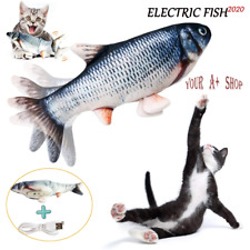 """12"""" Electric Moving Cat Kicker Fish Toy Realistic Flopping Catnip Wiggle Toys"""