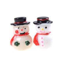 2pcs 1:12 Snowman Button+Green Gloves Christmas Dollhouse Home Miniature De Ga