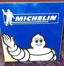 ancienne plaque  DOUBLE MICHELIN BIBENDUM ,lof,vintage,garage,no émaillée
