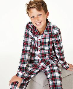 Macys Family Pjs Youth Boys Size Medium 8 Matching Kids Stewart Plaid Pajama Set