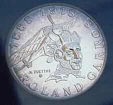 1988 France 10 Francs Roland Garoos Silver Proof Like BU Limited Mintage Cased