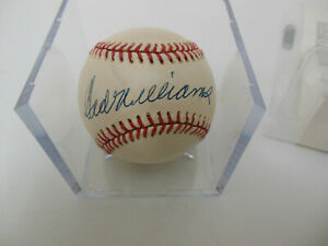 TED WILLIAMS SIGNED AUTOGRAPHED OAL BASEBALL JSA LOA