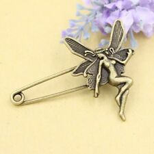 Retro Bronce Antiguo Seguridad Pin Ramillete De Hadas Boda Traje Solapa Pin Broche UK