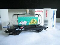 Märklin H0 44522 Güterwagen DB Kesselwagen aus Glas  SAUGUT in OVP