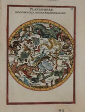 CELESTIAL - SOUTHERN SKY -  PLANISPHERE DES CONST. MERIDIONALES BY MALLET 1683.