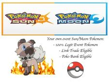 Pokemon Ultra Sun and Moon Event Rockruff with Own Tempo and Fire Fang