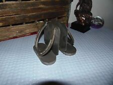Cowboy folk art, horseshoe bookends horseshoe decorations metal western decor