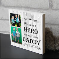 Personalised Daddy Dad Fathers Day Plaque Wooden Keepsake Photo Block Gift