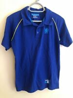 Mens Chelsea FC Nike Blue Training Polo Shirt Adults Size Small 100% Cotton -
