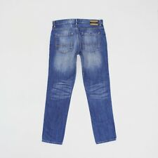 Pull & Bear Mens 34w 32L Reg Leg Comfort Tapered Blue Jeans