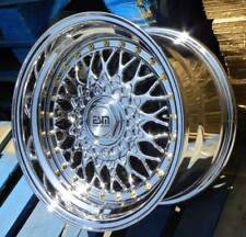 15x8 15x9 4x100 VW BMW Honda DEEP DISH ALLOY WHEELS SPLIT RIMS RS STYLE CLASSIC