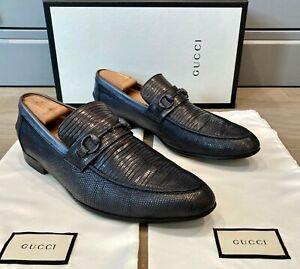 Gucci Men's Lizard Crocodile Horsebit Loafers size US 11 / EU 44.5
