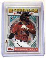 2020 Topps Baseball Finest Flashback Domingo Leyba RC #81 Arizona Diamondbacks
