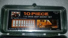 "Buffalo 1/4"" Drive Deep Socket Set D-1410"