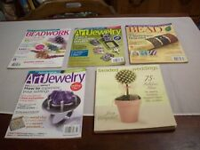 Beading: (4) Bead Magazines & 1-SB Book Beaded Weddings (#489)