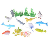 12pcs Marine Animal Model Toy Figure Ocean Creatures Dolphin Kids Toy Gift ^P