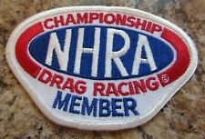 NHRA Championship Drag Racing Member Patch - NEW AND UNUSED