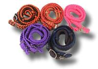 5 Pack Tough-1 7' Knotted Cord Assorted Colors Roping Reins Western Horse Tack