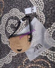 Zara Raffia Crossbody Bag New Handbag